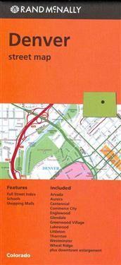 Denver Rand McNally Folded Map: Denver Street Map