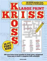 Kriss Trading Large Print Kriss Kross Puzzles