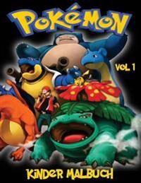 Pokemon Kinder Malbuch Vol 1: In dieser Größe A4 Malbuch, haben wir 75 abfangbare Kreaturen aus Pokemon Go gefangen für Sie zu färben.