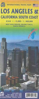 Los Angeles and Southern California Travel Reference Map