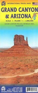Canyon Grand Canyon 1:90 000 and Arizona Travel Reference Map 1:1 000 000