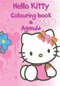 Hello Kitty Agenda & Colouring Book: A lovely colouring book and agenda for you to enjoy. This 124 page book consists of 58 images to colour, A - Z co