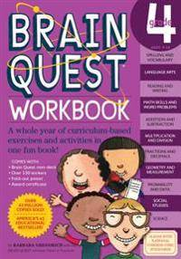 Image of Garmin Brain Quest Workbook: Grade 4 [With Over 150 Stickers and Mini-Card Deck and Fold-Out '7 Continents, 1 World' Poster]