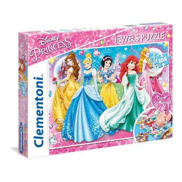 Disney Pussel Disney Princess Jewels, 104 bitar, Clementoni