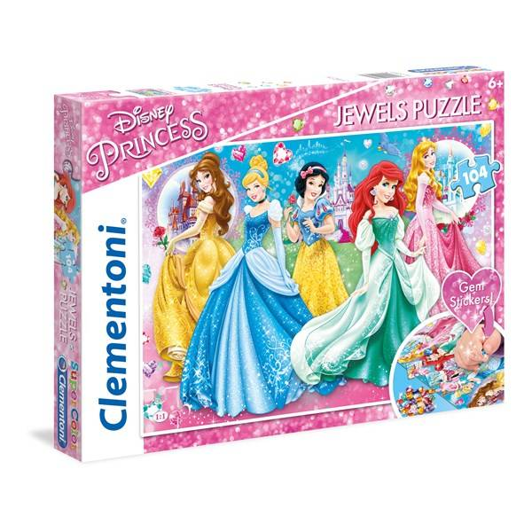 Disney Pussel Disney Princess Jewels, 104 bitar, Clementoni