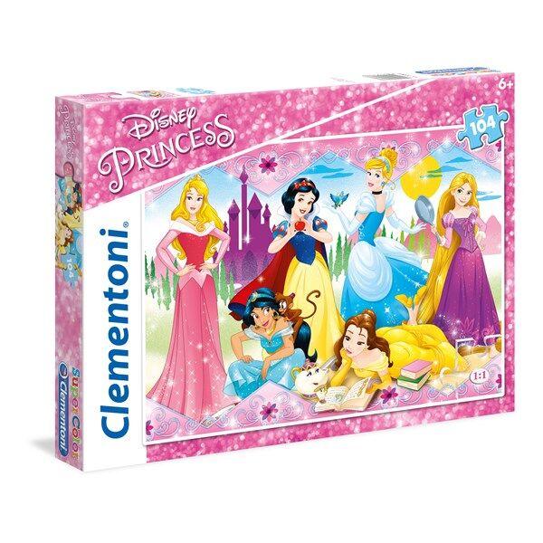 Disney Pussel SuperColor Disney Princess, 104 bitar, Clementoni