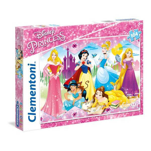 Disney Palapeli SuperColor Disney Princess, 104 palaa, Clementoni