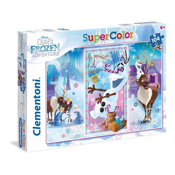 Pussel SuperColor Frozen Olaf, 104 bitar, Clementoni