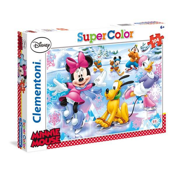 Pussel SuperColor Minnie Mouse, 104 bitar, Clementoni