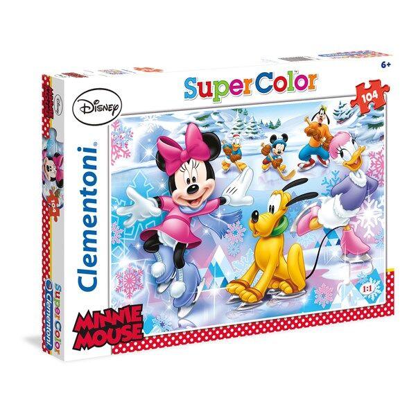Pussel SuperColor Minnie Mouse, 104 bitar, Clementoni