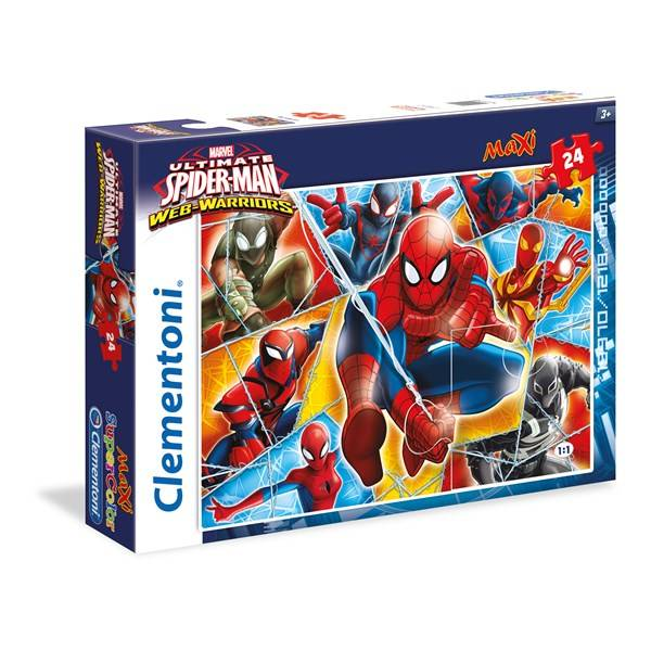 Palapeli Maxi Spiderman, 24 palaa, Clementoni