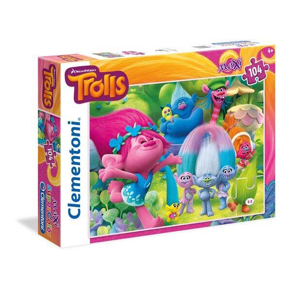 Pussel Maxi Trolls, 104 bitar, Clementoni