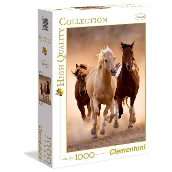 Palapeli HQC Running Horses, 1000 palaa, Clementoni