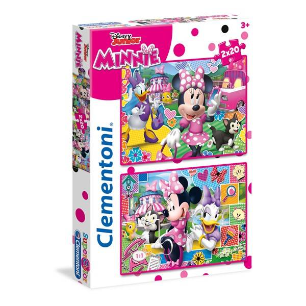 Pussel 2 i 1 Minnie, 40 bitar, Clementoni