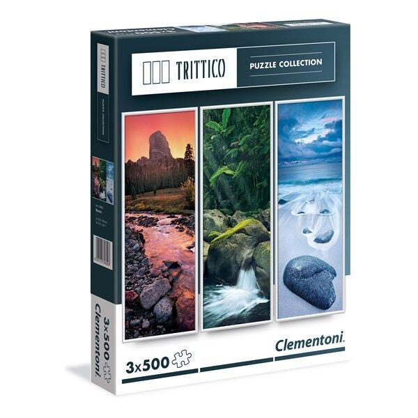 Pussel Trittico, Nature, 3x500 bitar, Clementoni