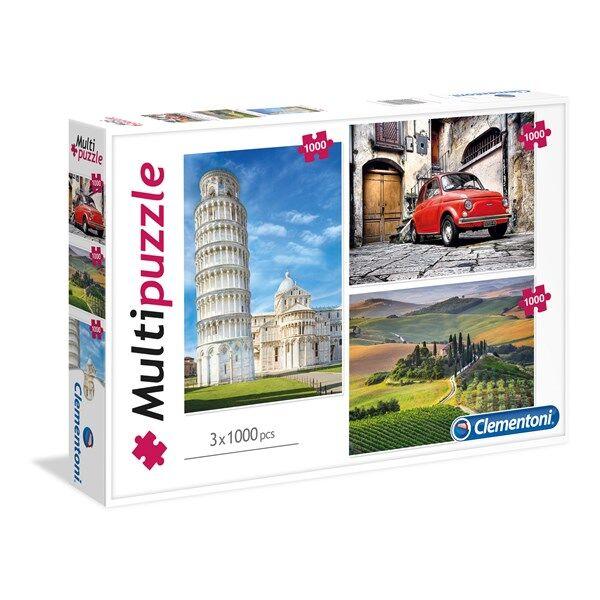 Pussel Italy, 3x1000 bitar, Clementoni