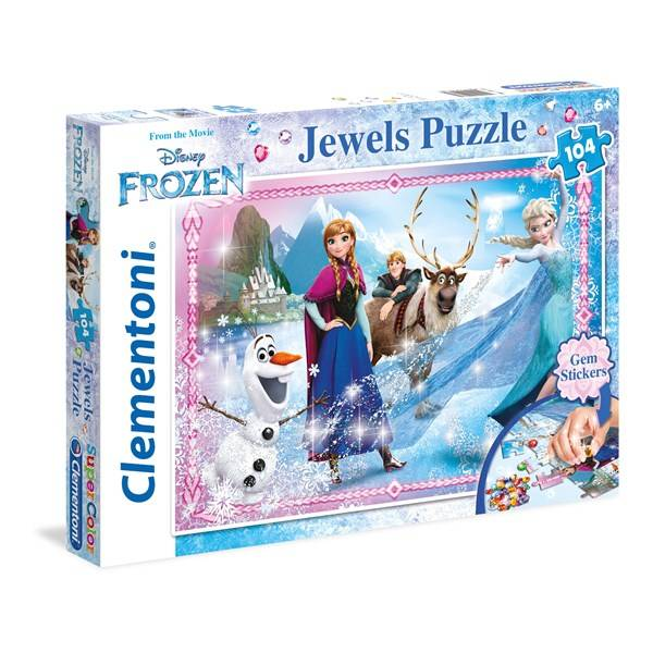 Disney Pussel Disney Frozen Jewels, 104 bitar, Clementoni