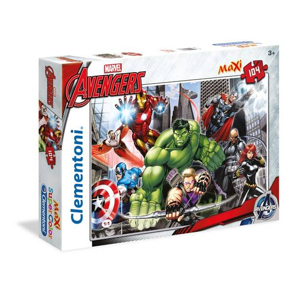Pussel Maxi Avengers, 104 bitar, Clementoni