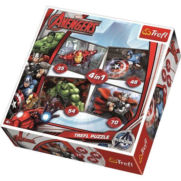 4-i-1 pussel, Avengers, Trefl