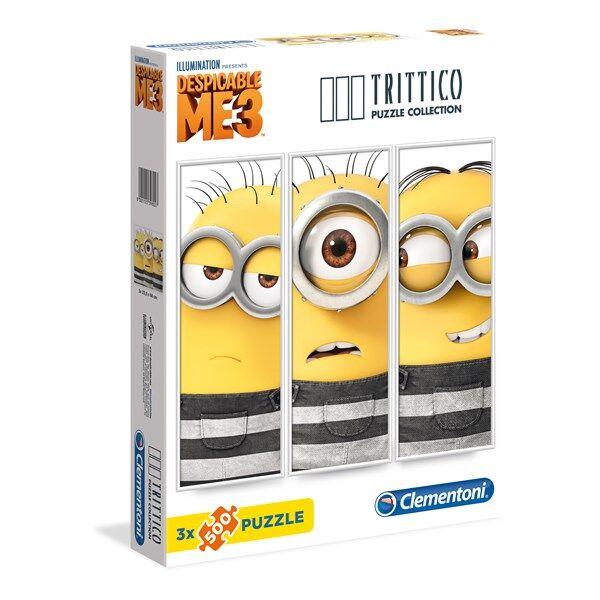 Pussel Trittico, Dumma mig 3, 3x500 bitar, Clementoni