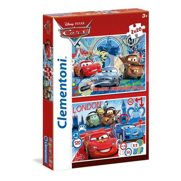 Palapeli 2 i 1 Cars 2, 40 palaa, Clementoni