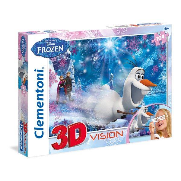 Disney 3D-Pussel Disney Frozen,104 bitar, Clementoni