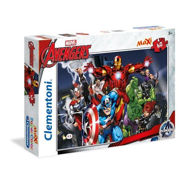 Pussel Maxi Avengers, 60 bitar, Clementoni