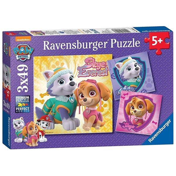 Paw Patrol Glamourous Girls, Pussel 3x49 bitar, Ravensburger