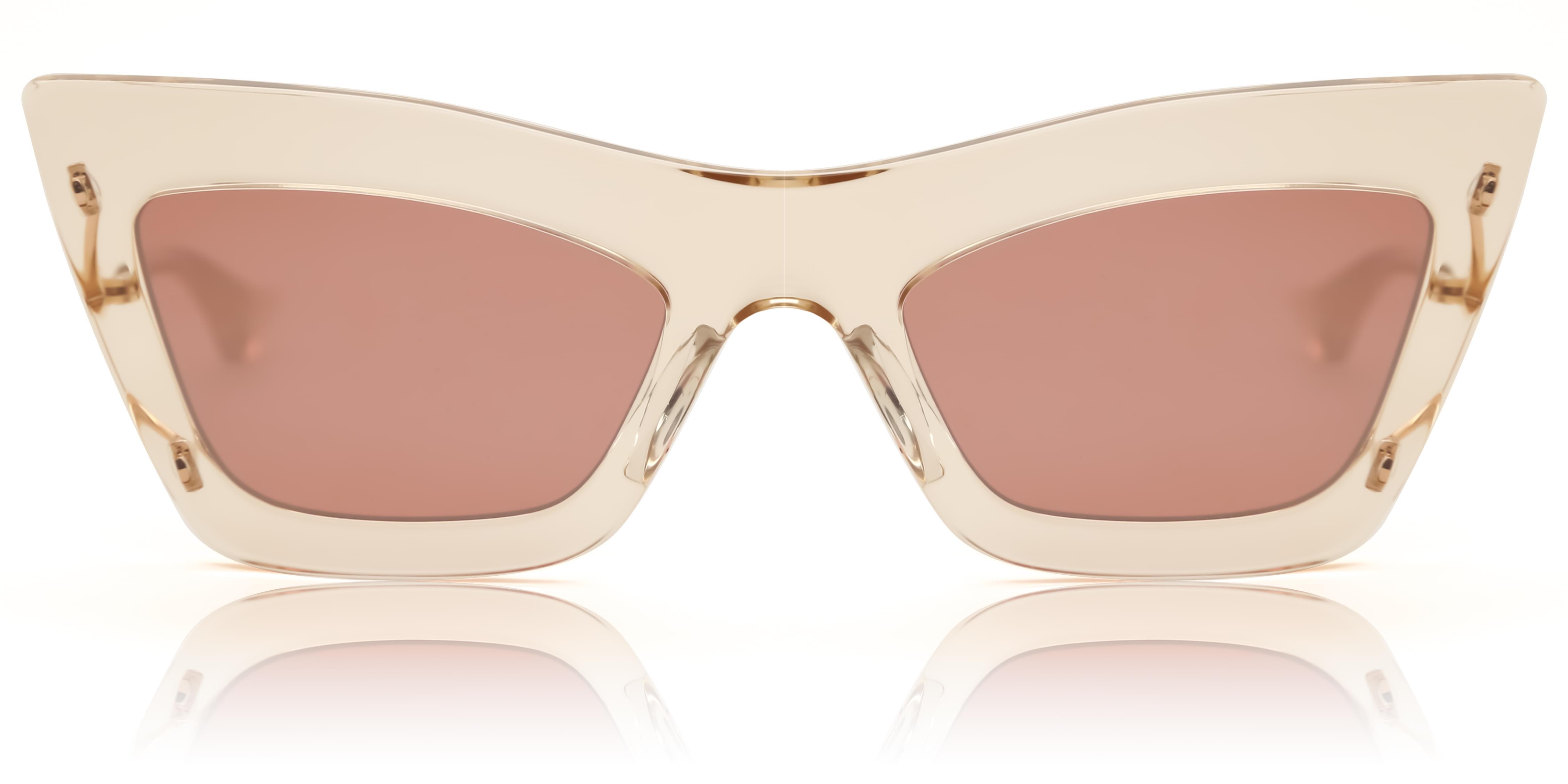 Dita Aurinkolasit Erasur DTS507-53 white/pink