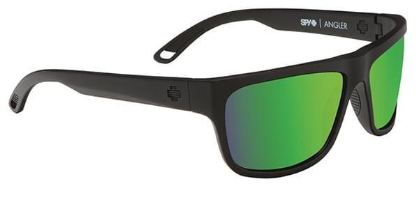 Spy Aurinkolasit ANGLER Polarized MATTE BLACK - HAPPY BRONZE POLAR w/ GREEN SPECTRA