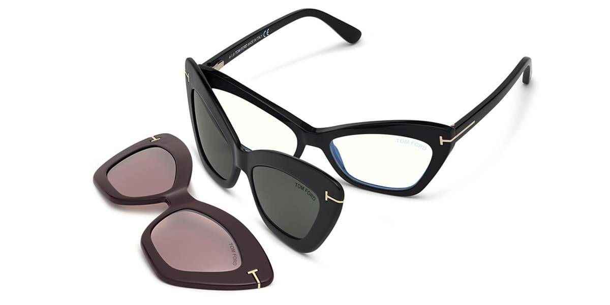 Image of Tom Ford Silmälasit FT5643-B With Clip On 001