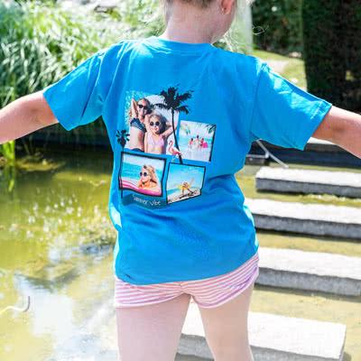 Image of Lasten T-paita valkoinen 9-11-v.