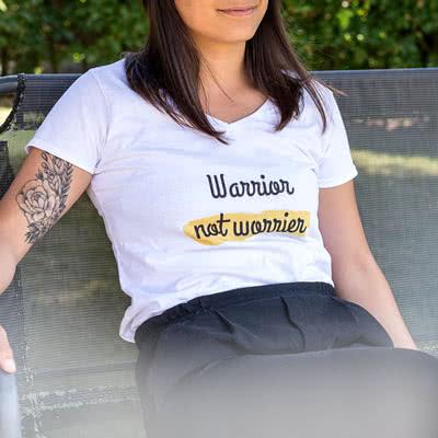 Image of Naisten T-paita valkoinen L