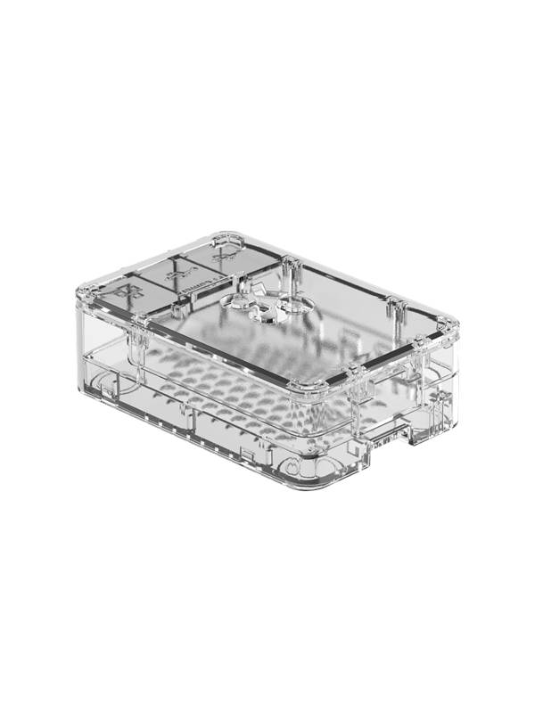 Raspberry Pi 4 Standard Case - Clear - Kotelot - Raspberry Pi - L�pin�kyv�