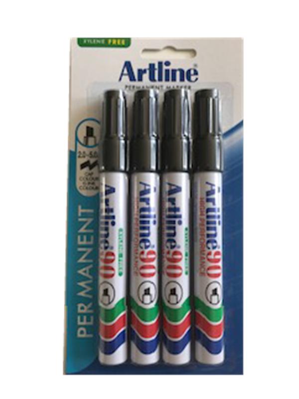 Artline EK90/4B Perm.marker 4 Black