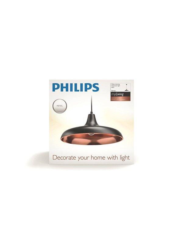 Philips Surrey pendant black 1x40W 230 Riippuvalaisin