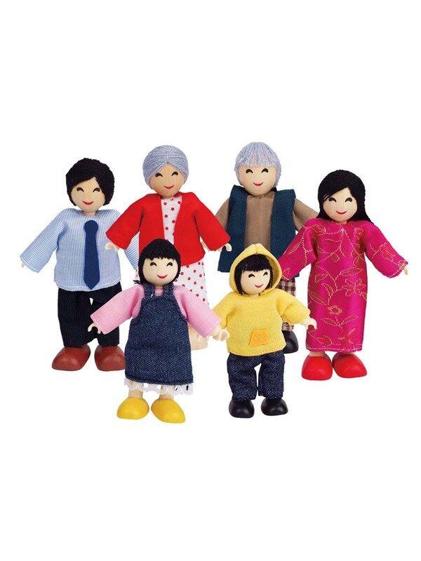 Hape Doll House Asian Family
