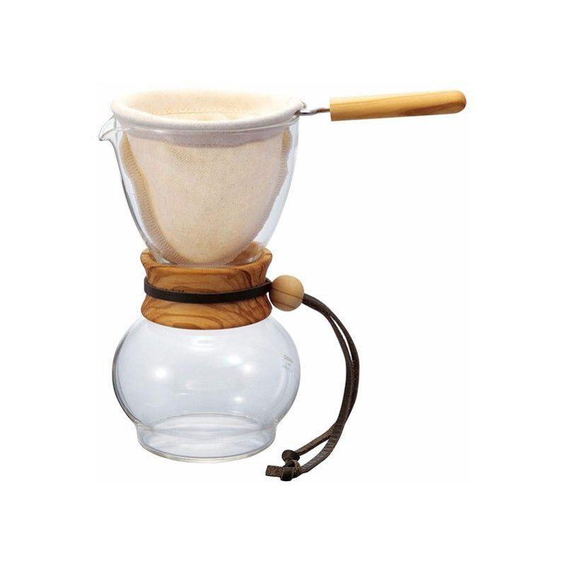 Hario Drip Pot Olive Wood kahvisuodatin 480 ml