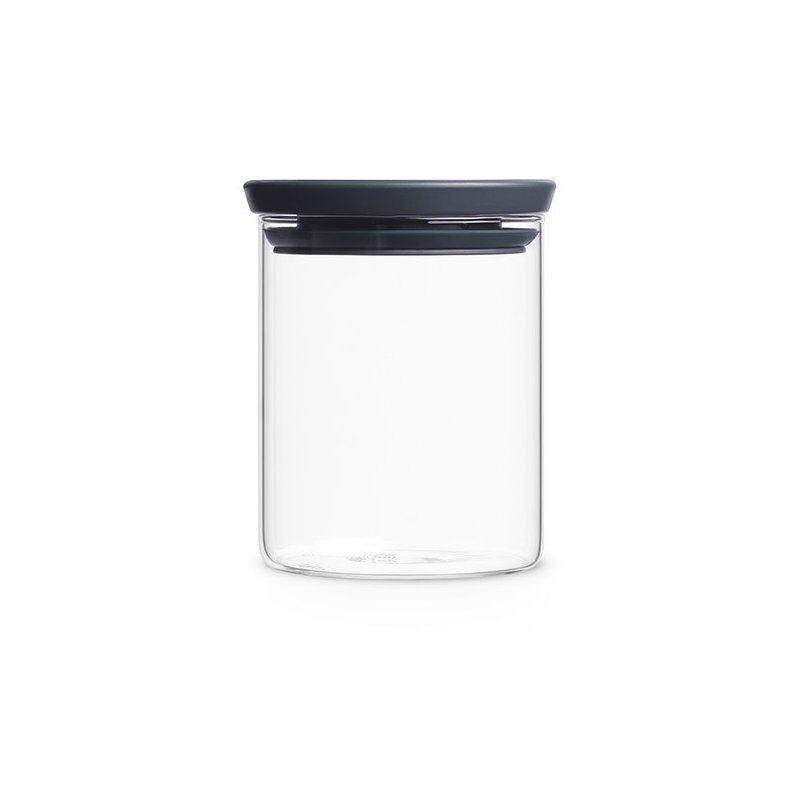 Brabantia lasipurkki harmaalla kannella. 0.6 l