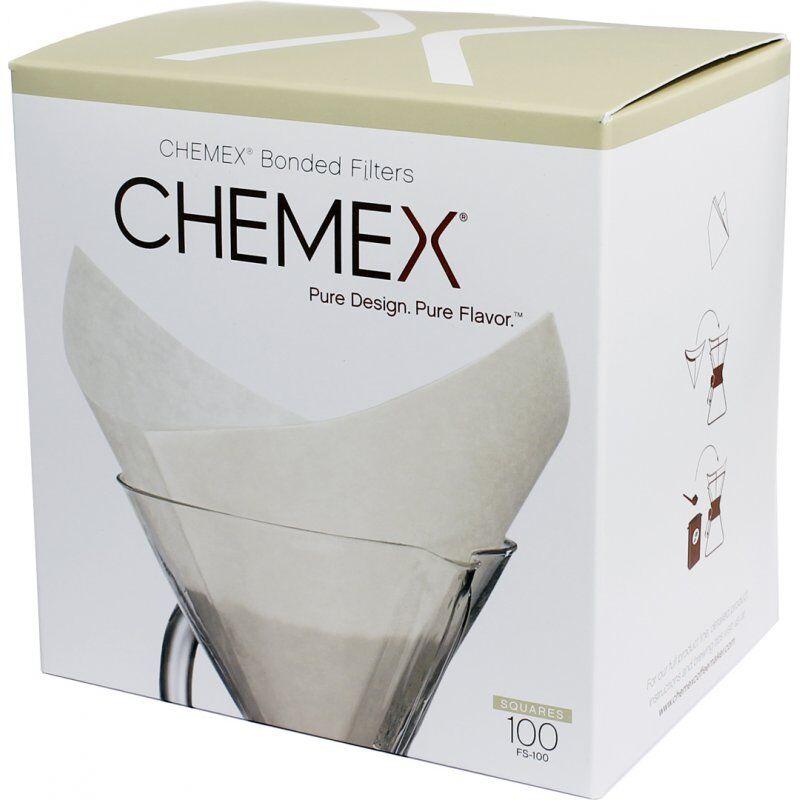 Chemex Pre-folded Squares neliön muotoiset suodatinpaperit 6. 8 ja 10 kupin kannuun 100 kpl