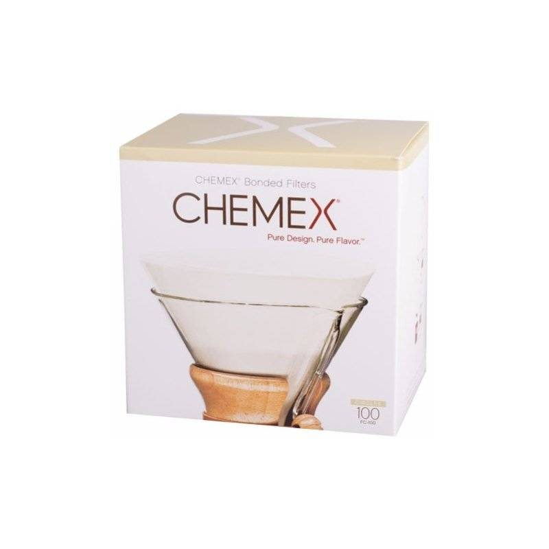 Chemex Pre-folded Circles pyöreät suodatinpaperit 6. 8 ja 10 kupin kannuun 100 kpl