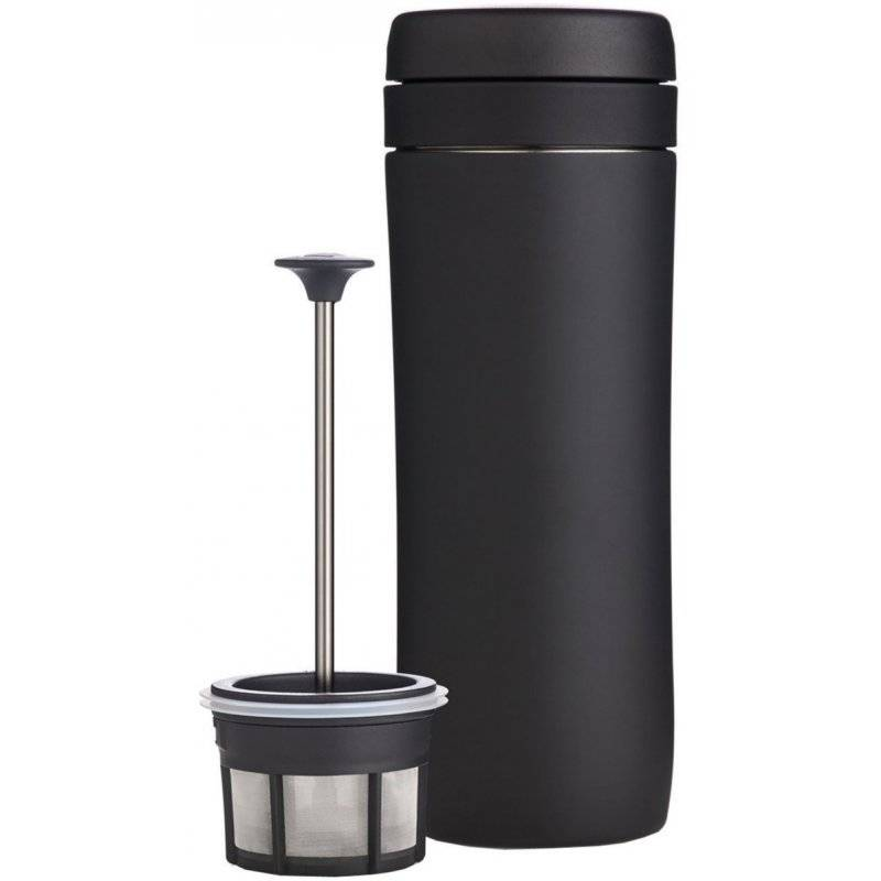 Espro Coffee Travel Press Coffee matkamuki pressotoiminnolla 350 ml. mattamusta
