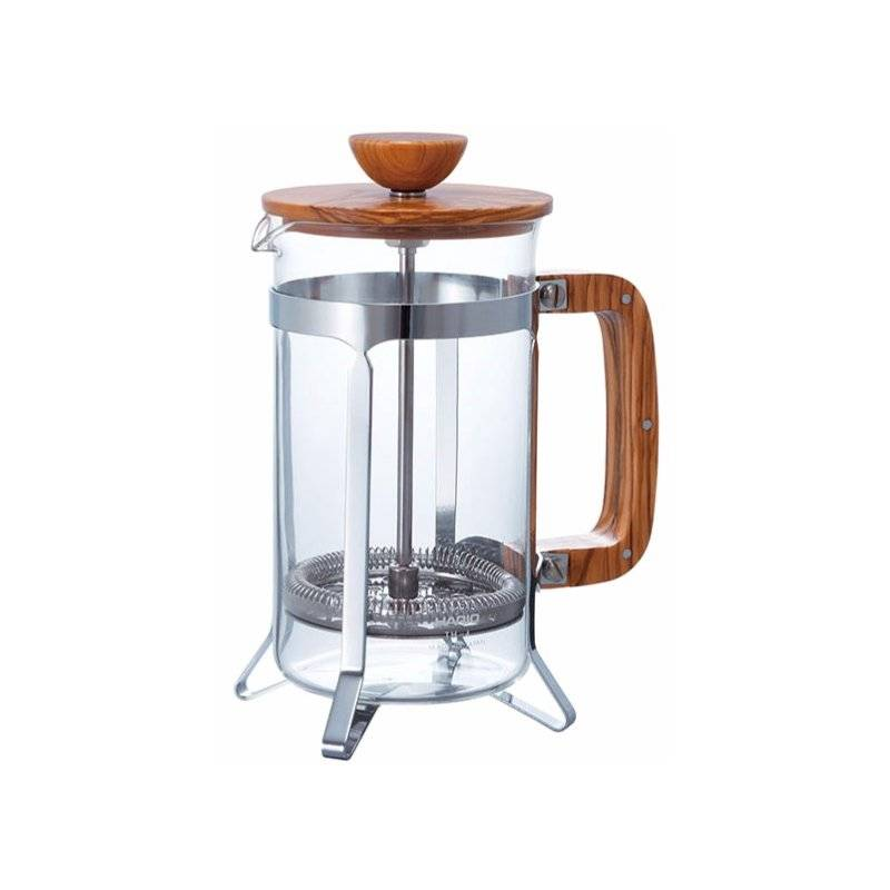 Hario Cafe Press Olive Wood 600 ml pressopannu