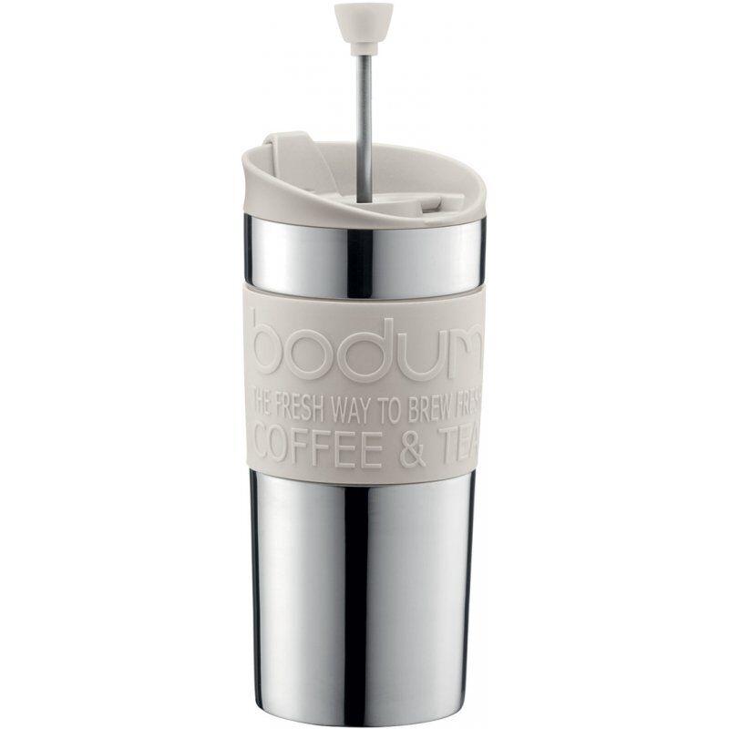 Bodum Travel Press matkamuki pressotoiminnolla 350 ml. valkoinen