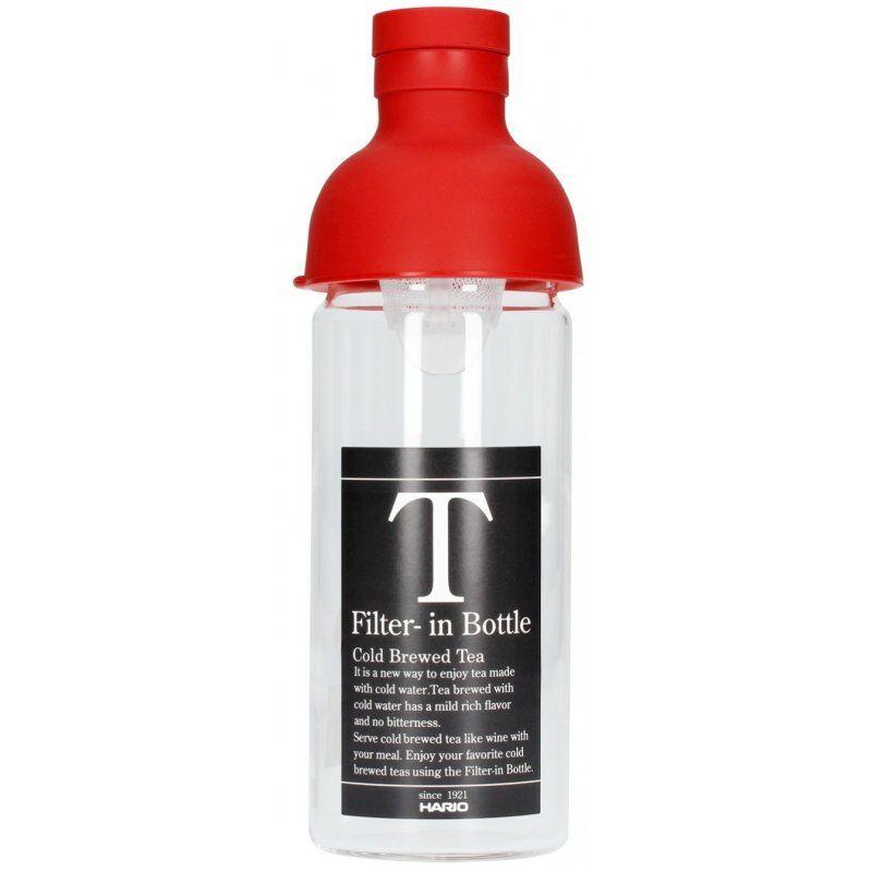 Hario Filter-in Bottle cold brew teepullo 300 ml. punainen