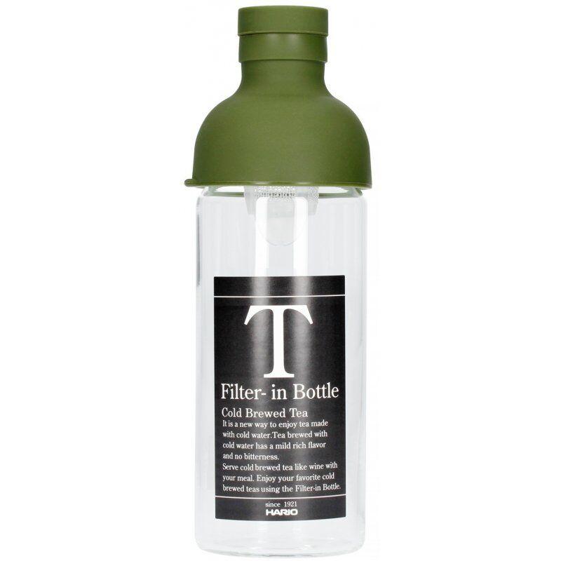 Hario Filter-in Bottle cold brew teepullo 300 ml. oliivinvihreä