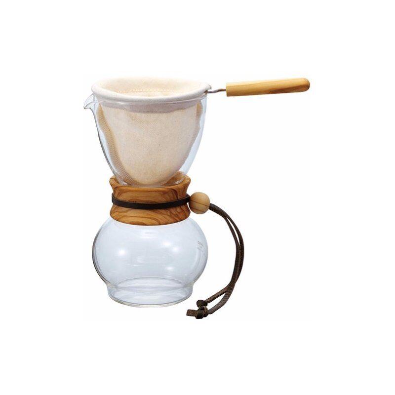 Hario Drip Pot Olive Wood kahvisuodatin 240 ml