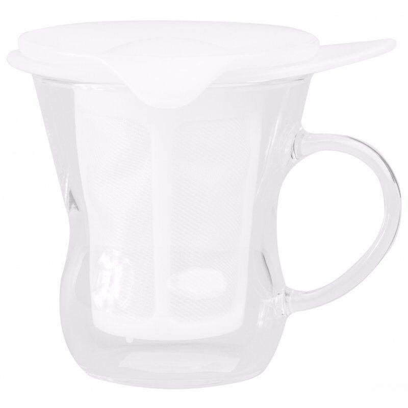 Hario One Cup Tea Maker 200 ml. valkoinen