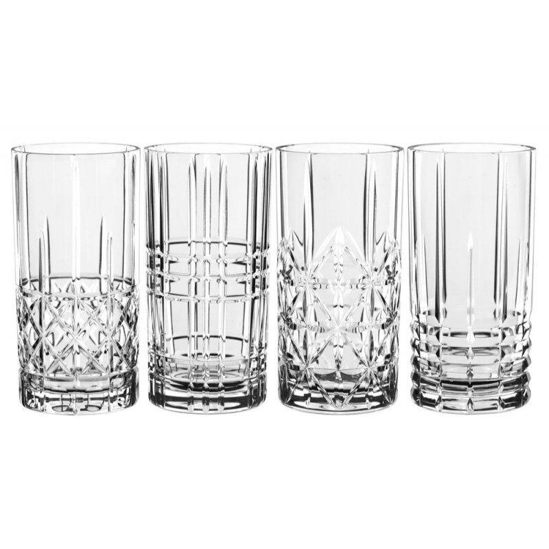 Nachtmann Highland Long Drink drinkkilasisetti 4 eri kuviolla