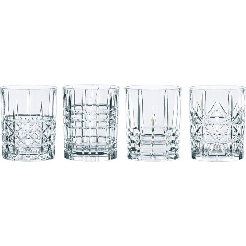 Nachtmann Highland Tumbler drinkkilasisetti 4 eri kuviolla